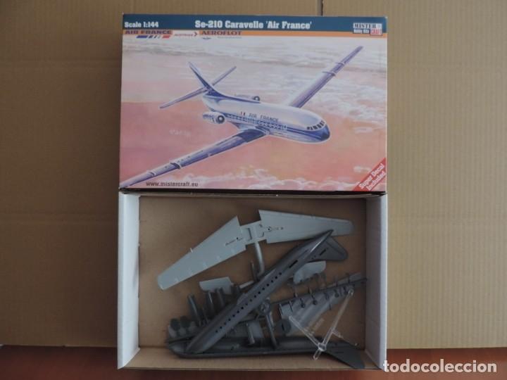 MAQUETA - MISTERCRAFT D-28 SE-210 CARAVELLE AIR FRANCE 1/144 (Juguetes - Modelismo y Radio Control - Maquetas - Aviones y Helicópteros)