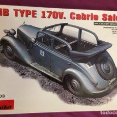 Maquetas: MERCEDES TYPE 170V CABRIO SALOON 1:35 MINIART 35103 MAQUETA VEHICULO CARRO DIORAMA TANQUE. Lote 179156387