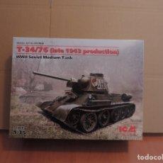 Maquetas: MAQUETA - ICM 35366 WWII SOVIET MEDIUM TANK T-34/76 (LATE 1943 PRODUCTION) 1/35. Lote 179169887