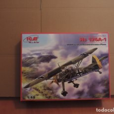 Maquetas: MAQUETA - ICM 48211 HS 126A-1 WWII AVION DE ROCONOCIMIENTO ALEMAN 1/48. Lote 179171436