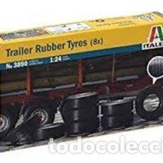 Maquetas: ITALERI - TRAILER RUBBER TYRES X8 1/24 3890. Lote 179203872