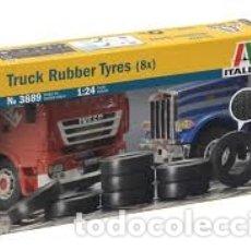 Maquetas: ITALERI - TRUCK RUBBER TYRES X8 1/24 3889. Lote 179203975