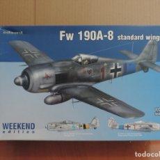 Maquetas: MAQUETA - EDUARD 7435 FW 190A-8 STANDARD WINGS WEEKEND EDITION 1/72 + 6 ZTS 1/72. Lote 179256971