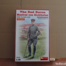 Maquetas: MAQUETA - MINIART 16032 THE RED BARON MANFRED VON RICHTHOFEN WWI FLYING ACE 1/16. Lote 179260146