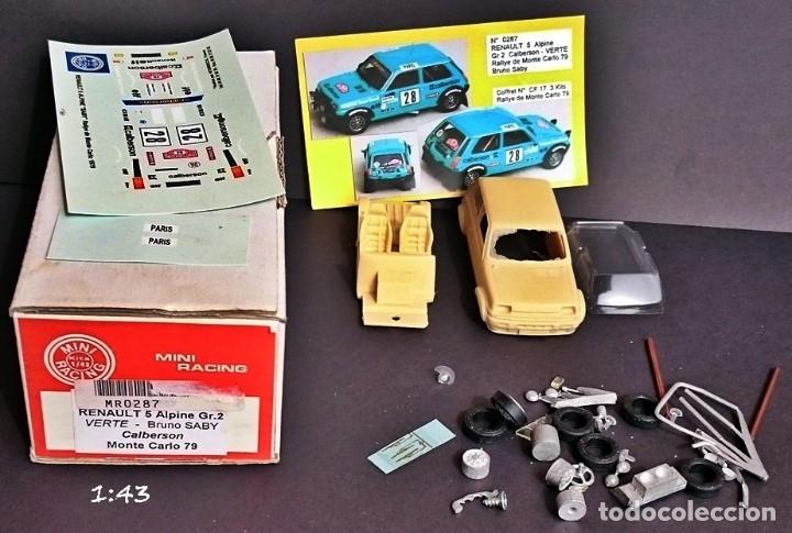 Maquetas: MINI RACING KIT RENAULT 5 ALPINE GR 2 CALBERSON BRUNO SABY / MONTE CARLO 1979 - Foto 2 - 179343938
