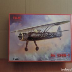 Maquetas: MAQUETA - ICM 48212 HS 126B-1 WWII GERMAN RECONNAISSANCE PLANE 1/48. Lote 179399355