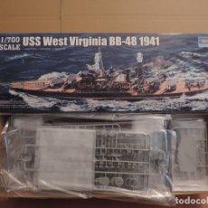 Maquetas: MAQUETA - TRUMPETER 05771 ACORAZADO USS BB-48 WEST VIRGINIA 1941 1/700. Lote 179401263