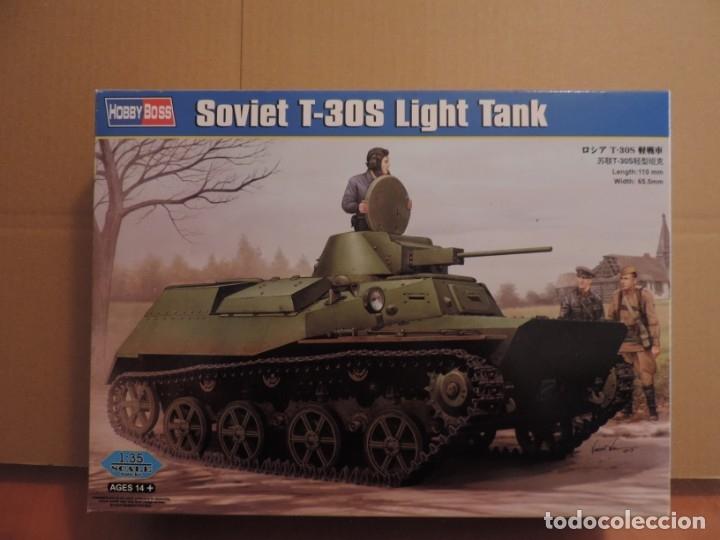 MAQUETA - HOBBY BOSS 83824 TANQUE LIGERO SOVIETICO T-30S 1/35 (Juguetes - Modelismo y Radiocontrol - Maquetas - Militar)
