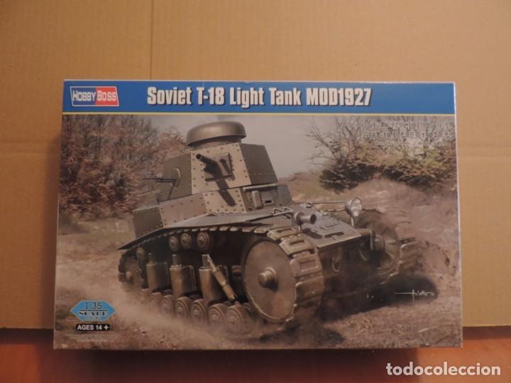 MAQUETA - HOBBY BOSS 83873 TANQUE LIGERO SOVIETICO T-18 MOD 1927 1/35 (Juguetes - Modelismo y Radiocontrol - Maquetas - Militar)