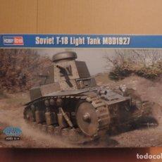Maquetas: MAQUETA - HOBBY BOSS 83873 TANQUE LIGERO SOVIETICO T-18 MOD 1927 1/35. Lote 179516765