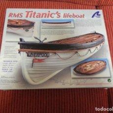 Maquetas: MAQUETA DEL BARCO RMS TITANICS LIFEBOAT ESCALA 1:35 ARTESANIA LATINA - COMPLETA - . Lote 179527601