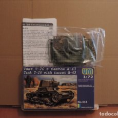 Maquetas: MAQUETA - UM 314 TANK T-26 WITH TURRET A-43 1/72. Lote 179963046