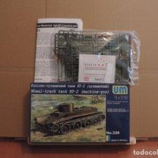 Maquetas: MAQUETA - UM 338 BT-2 SOVIET MACHINE-GUN TANK 1/72. Lote 180006337
