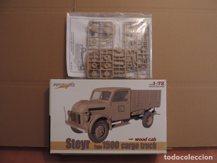 MAQUETA - PROFILINE 7007 STEYR TYPE 1500 CARGO TRUCK WOODEN CAB 1/72 (Juguetes - Modelismo y Radiocontrol - Maquetas - Militar)