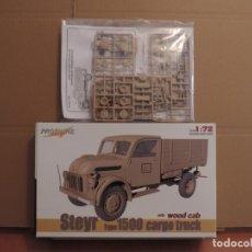 Maquetas: MAQUETA - PROFILINE 7007 STEYR TYPE 1500 CARGO TRUCK WOODEN CAB 1/72. Lote 180006602