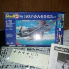 Maquetas: REVELL 1/72 FW 190 F-8/A-8 & BV 246 HAGELKORN. Lote 180096373