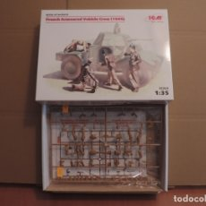 Maquetas: MAQUETA - ICM 35615 FRENCH ARMOURED VEHICLE CREW (1940) 1/35. Lote 180101121