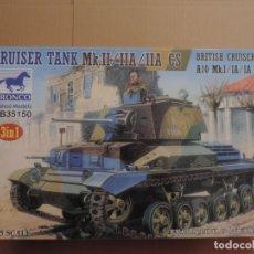 Maquetas: MAQUETA - BRONCO 35150 BRITISH CRUISER TANK A10 MK I/IA/IA CS 1/35. Lote 180102203
