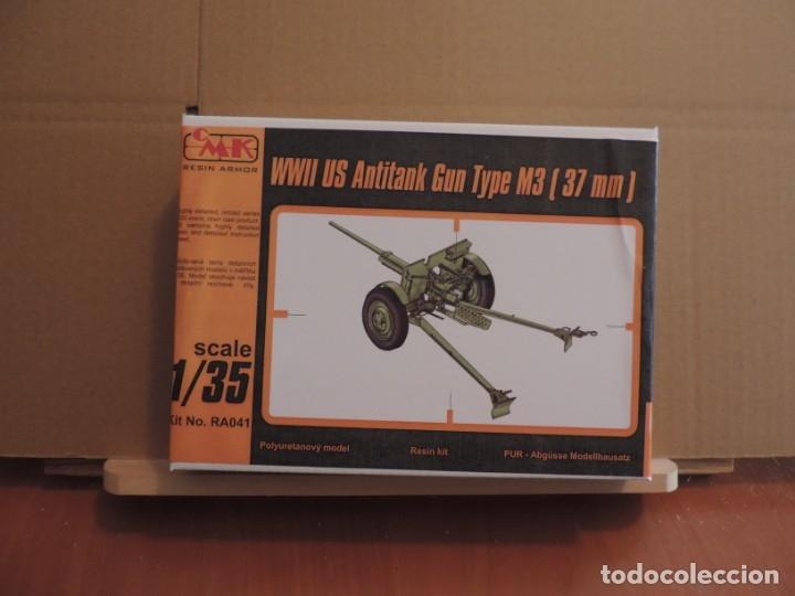 MAQUETA - CMK RA041 M3 US 37MM ANTI-TANK GUN WW.II 1/35 (KIT DE RESINA) (Juguetes - Modelismo y Radiocontrol - Maquetas - Militar)