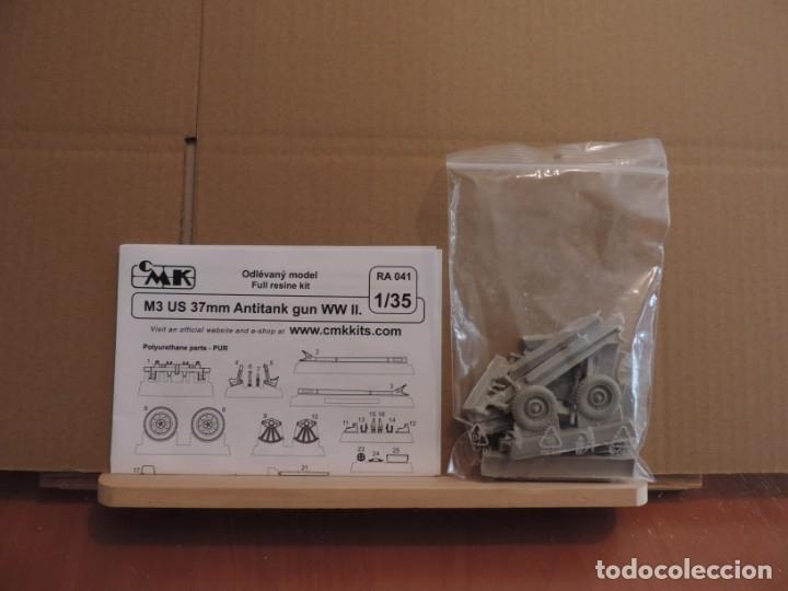 Maquetas: Maqueta - CMK RA041 M3 US 37mm Anti-tank gun WW.II 1/35 (kit de resina) - Foto 2 - 180102843