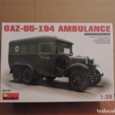 Maquetas: MAQUETA - MINIART 35164 GAZ-05-194 CAMION AMBULANCIA SOVIETICO 1/35. Lote 180109726