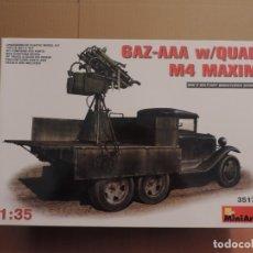Maquetas: MAQUETA - MINIART 35177 GAZ-AAA W/QUAD M4 MAXIM 1/35. Lote 180109848
