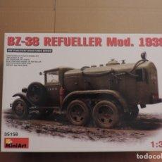 Maquetas: MAQUETA - MINIART 35158 BZ-38 CAMION CISTERNA DE COMBUSTIBLE SOVIETICO MOD.1939 1/35. Lote 180110441