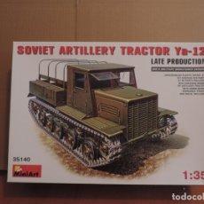 Maquetas: MAQUETA - MINIART 35140 TRACTOR DE ARTILLERIA SOVIETICO YA-12 PRODUCCION TARDIA 1/35. Lote 180113867