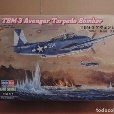 Maquetas: MAQUETA - HOBBY BOSS 80325 TBM-3 AVENGER TORPEDERO BOMBARDERO 1/48. Lote 180160288