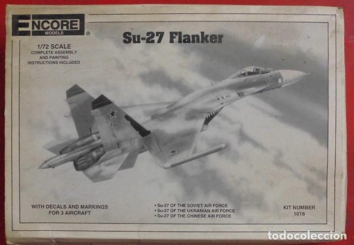 SUKHOI SU-27. ENCORE MODELS ESCALA 1/72. MODELO NUEVO (Juguetes - Modelismo y Radio Control - Maquetas - Aviones y Helicópteros)