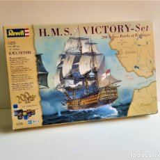 Maquetas: REVELL BONITA MAQUETA BARCO CONSTRUCCION H.M.S. VICTORY ESCALA 1/225. Lote 180242325