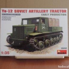Maquetas: MAQUETA - MINIART 35052 TRACTOR DE ARTILLERIA SOVIETICO TRACTOR YA-12 PRODUCCION INICIAL 1/35. Lote 180247990
