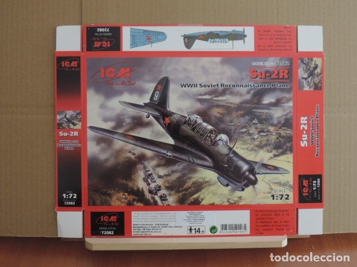 MAQUETA - ICM 72082 SU-2R WWII AVION DE RECONOCIMIENTO SOVIETICO 1/72 (Juguetes - Modelismo y Radio Control - Maquetas - Aviones y Helicópteros)