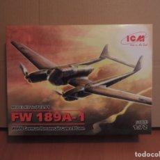 Maquetas: MAQUETA - ICM 72291 FOCKE WULF FW 189A-1 AVION DE RECONOCIMIENTO ALEMAN 1/72 . Lote 180423797