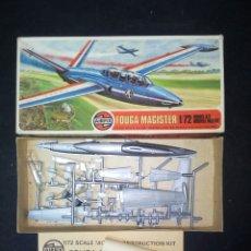 Maquetas: AIRFIX 1/72 FOUGA MAGISTER VINTAGE. Lote 180462225