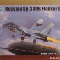 Maquetas: MAQUETA - TRUMPETER 01669 RUSSIAN SU-33UB FLANKER D 1/72. Lote 180945815