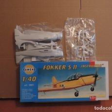 Maquetas: MAQUETA - SMER 0801 FOKKER S 11 INSTRUCTOR 1/40. Lote 181125355