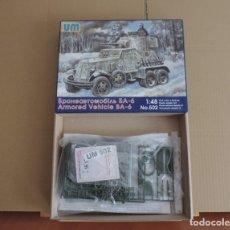 Maquetas: MAQUETA - UM 502 BA-6 SOVIET ARMORED CAR 1/48 . Lote 181185725