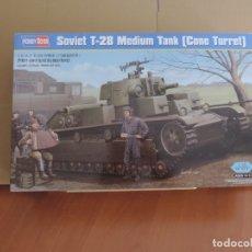 Maquetas: MAQUETA - HOBBY BOSS 83855 T-28 TANQUE MEDIO SOVIETICO (TORRE CONICA) 1/35 . Lote 181186301