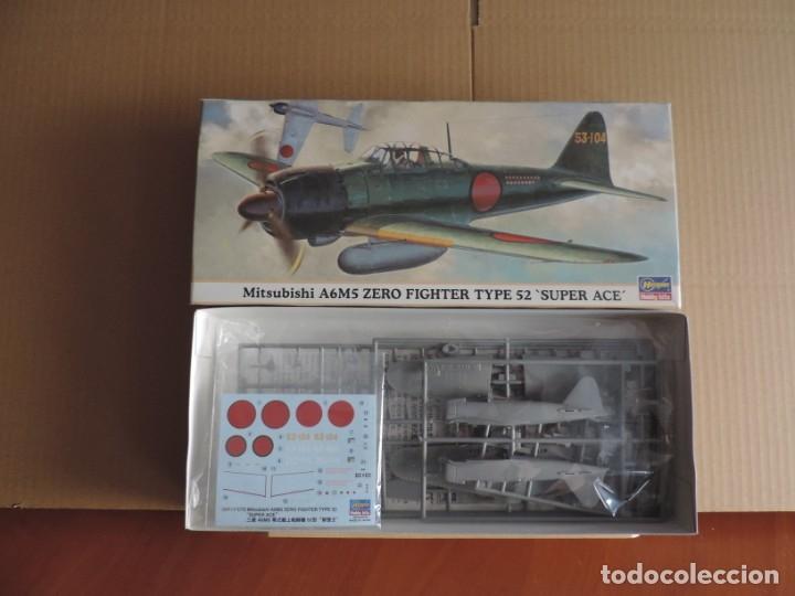 MAQUETA - HASEGAWA 00919 MITSUBISHI A6M5 ZERO FIGHTER TYPE 52 'SUPER ACE' 1/72 (Juguetes - Modelismo y Radiocontrol - Maquetas - Militar)
