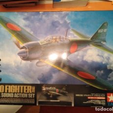 Maquetas: ZERO FIGHTER REAL SOUND ACTION SET ZEKE MAQUETA MODELISMO AVION. Lote 181438541