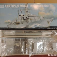 Maquetas: MAQUETA - TRUMPETER 04545 HMS TYPE 23 FRIGATE -MONTROSE (F236) 1/350. Lote 181573338