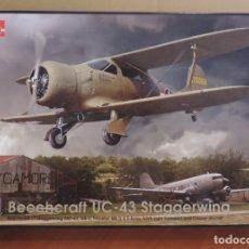 Maquetas: MAQUETA - RODEN 442 BEECHCRAFT UC-43 STAGGERWING 1/48. Lote 181574331
