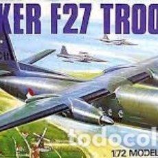 Maquetas: AIRFIX - FOKKER F27 TROOPSHIP 1/72 5003. Lote 181630151