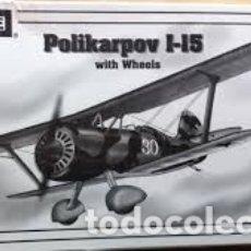 Maquetas: ENCORE - POLIKARPOV I-15 WITH WHEELS 1/72 1025. Lote 182393591