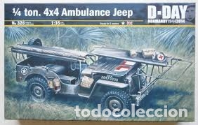 ITALERI - 1/4 TON. 4X4 AMBULANCE JEEP D-DAY 1/35 326 (Juguetes - Modelismo y Radiocontrol - Maquetas - Militar)