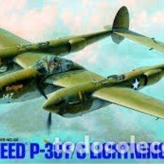 Maquetas: TAMIYA - LOCKHEED P-38 F/G LIGHTNING 1/48 61120. Lote 182434518