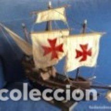Maquetas: CARABELA SANTA MARÍA. MAQUETA VINTAGE, MITAD DEL SIGLO PASADO.. Lote 182444761