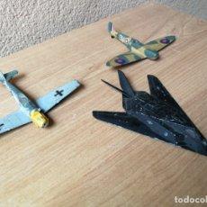 Maquetas: AVIONES METÁLICO AVION FANTASMA F-117 CAZA STUKA SPITFIRE . Lote 182481765