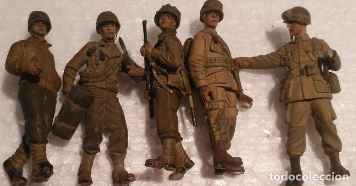 Maquetas: Lote de 5 soldados americanos 1/35 montados y pintados con detalles - Foto 2 - 182647345